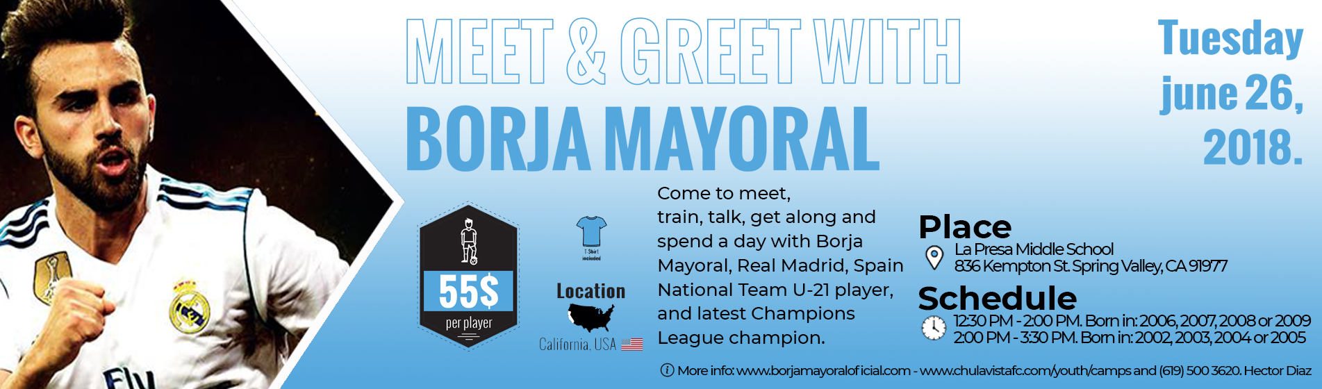 Borja Mayoral's Soccer Camp in the USA