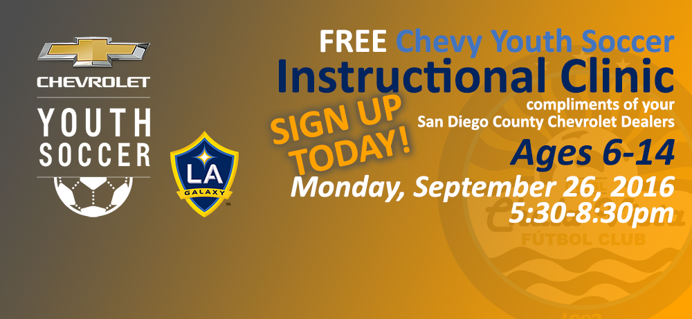 Free Chevy Soccer Clinic with LA Galaxy