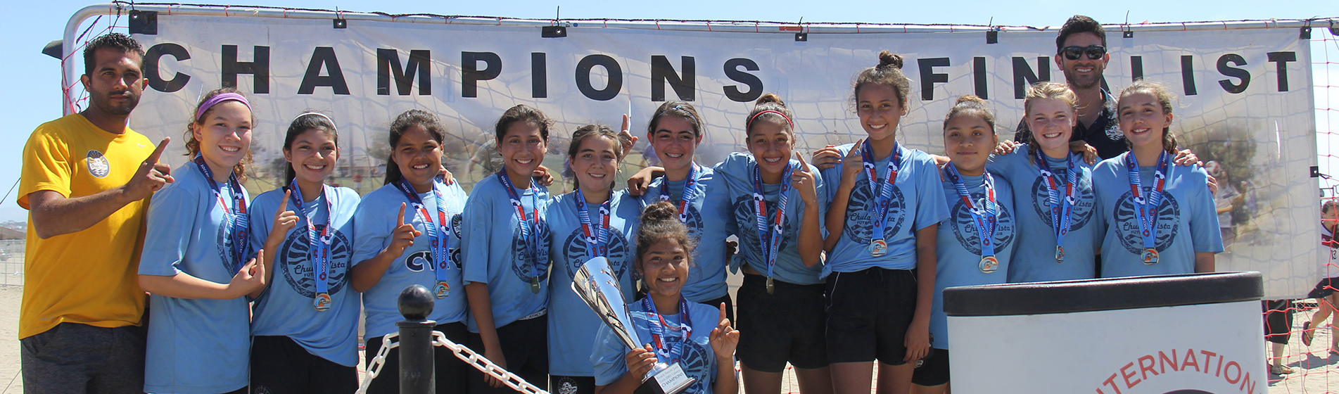 Chula Vista FC's G2004 won the Beach Soccer Jam Tournament!