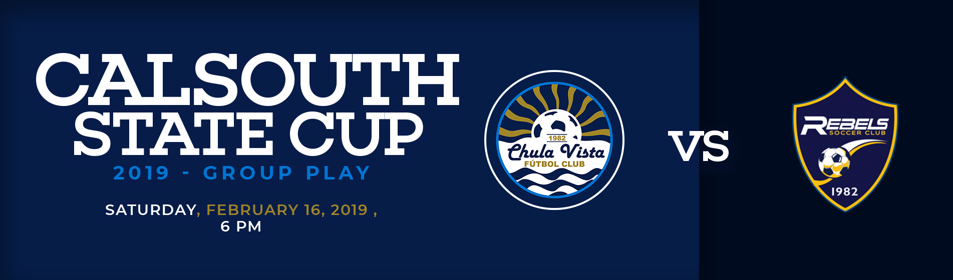2019 Adult State Cup Begins with Local Derby