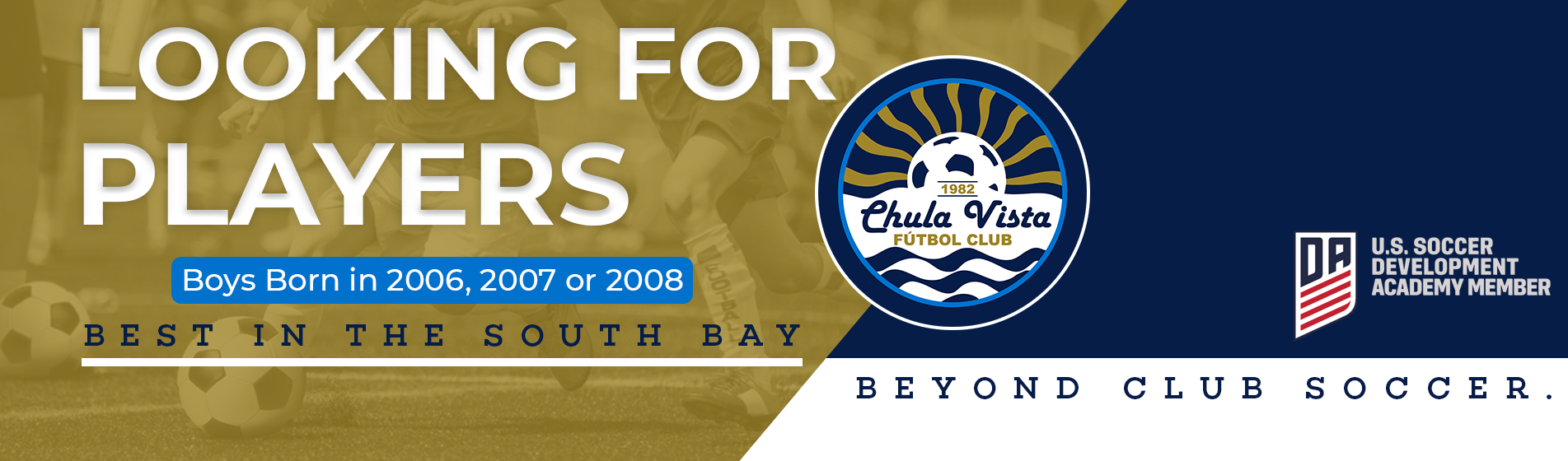 DA Tryouts - Boys Born in 2006, 2007 & 2008